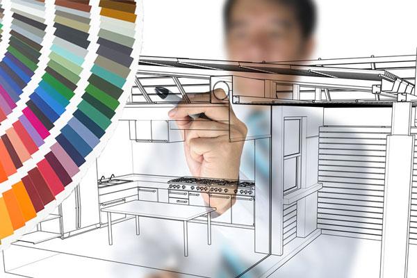 Interior, kitchen and bathroom detailed design